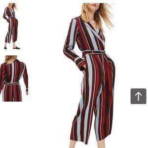 Topshop stripe jumpsuit size UK14/US10